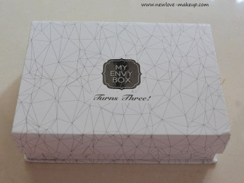 October 2016 3rd Anniversary My Envy Box Review