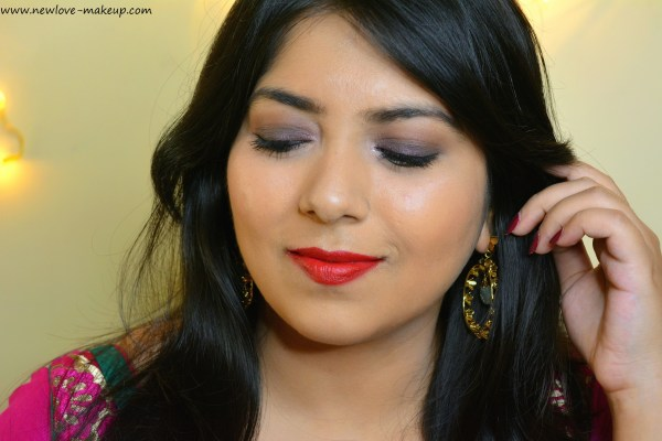 Plum Smokey Eyes for Diwali with L'Oreal Paris Festive Fever, Indian Makeup Blog, Indian Beauty Blog