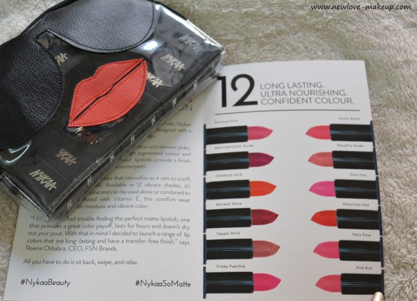All Nykaa So Matte Lipsticks Review, Swatches