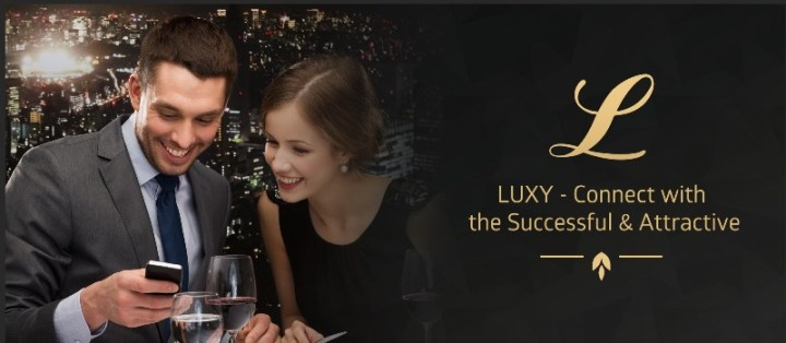 LUXY dating app home page