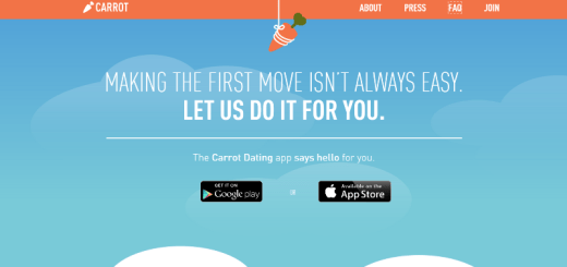 carrot dating app home page