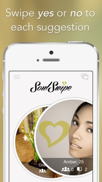 soulswipe dating app page showing a right swipe