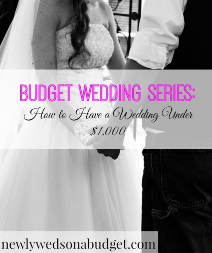 How to Have a Wedding Under $1,000 Newlyweds on a Budget
