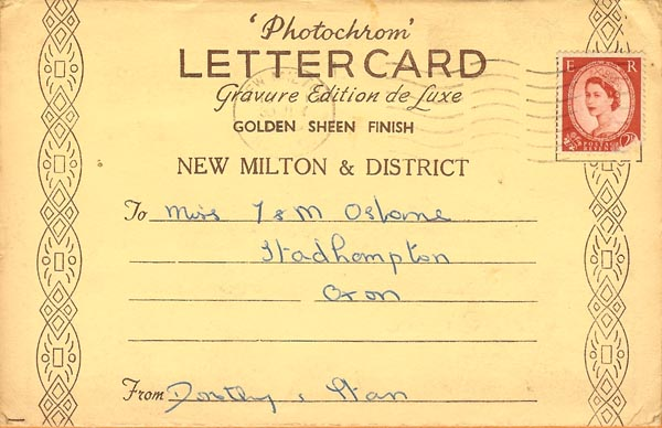 Letter Card New Milton - an Online Record