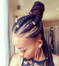 5 Box Braids Bun for Beautiful Black Women | Hairstyles ...