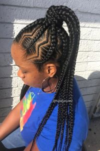 3 Colored Braided Hairstyles for Black Women | Natural ...