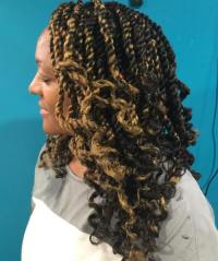 Individual Braids with Curly Ends | Natural Hairstyles