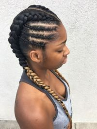 2 Goddess Braids to the Side | Natural Hairstyles