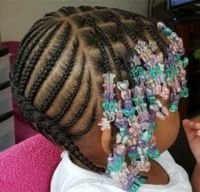 Toddler Braided Hairstyles with Beads | Natural Hairstyles
