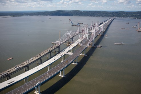 August 25, 2017 - Work continues on the eastbound span.