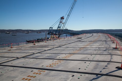 December 16, 2015 - The new westbound span takes shape.