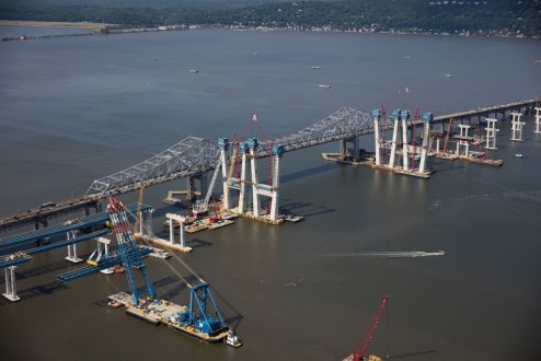 June 24, 2016 - The new main span towers continue to rise.