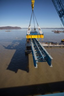 March 16, 2016 – I Lift NY raises an assembly of steel girders.
