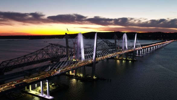 November 17, 2017 - Traffic crosses the Hudson River on the new bridge's first span.