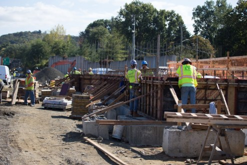 October 12, 2017 - Work continues on the new State Police Facility in Westchester County.