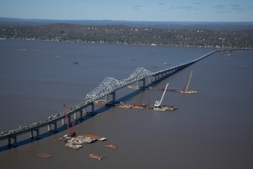 May 2014 - Aerial View of Main Span from Westchester