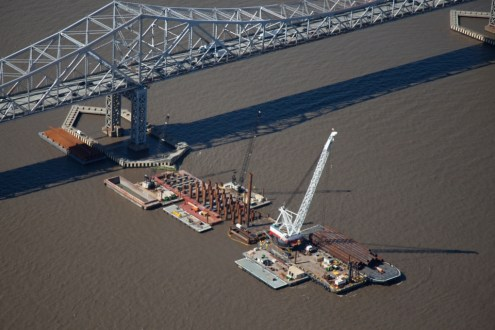 May 2014 - Main Span Pile Installation