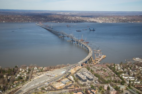 April 2015 -View of the project site from high above Westchester county.