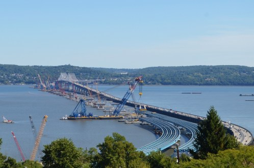 September 24, 2015 - The New NY Bridge project site as seen from Rockland County.