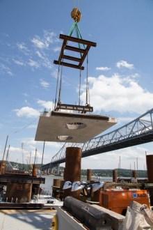 July 2014 - Pier 31 Precast pile cap installation