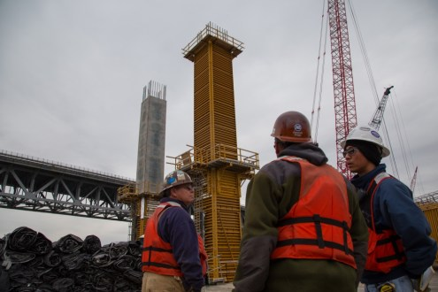 November 13, 2014 - the formwork for the pier 39 columns.
