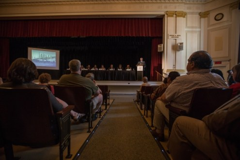 May, 2015 - The 2015 Westchester annual public meeting, held on May 12 at the Washington Irving Elementary School in Tarrytown, gave residents an in-depth look at construction progress.