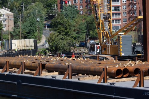 September 2013 - Steel Piles on Site
