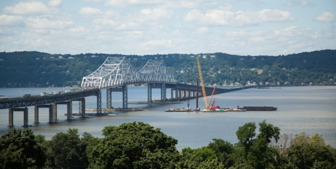 July 2013 - Test Pile Operations begin near the main span on July 30, 2013.
