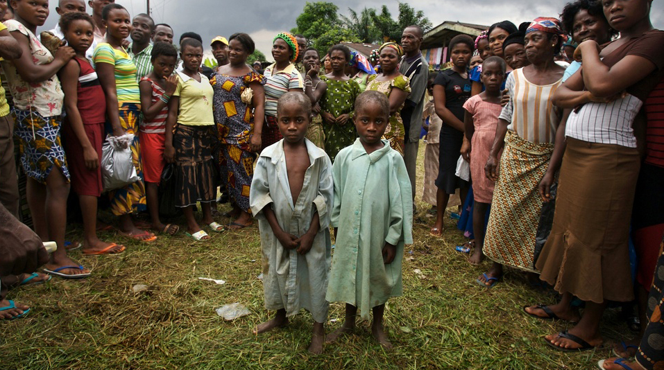 Five-year-old twins, Itohowo and Kufre were still hanging around close to their mother's shack, obviously malnourished, dressed in filthy rags. They had been sleeping in the market, eating scraps of food off the ground. Approaching the boys brought a crowd of villagers, including their mother, who stood around shouting: 'Take them away from us, they are witches.' 'Take them away before they kill us all.' 'Witches!'. We take the children away from their home and family. They get into the car without speaking, they do not cry and when we drive off, they do not look back.