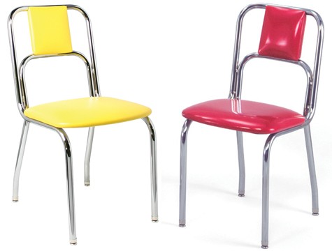 934 New Retro Dining Small Curved Back Diner Chair