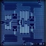 De processor van IBM rekent met vijf kwantumbits. Bron: IBM