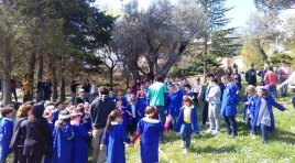 Fornelli: celebrata la festa dell'albero. Gli alunni incontrano la natura.