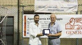 Calcio a 5: imbattibile tra i pali, a Michele Ranieri il premio come miglior portiere del torneo Ignazio Silone.