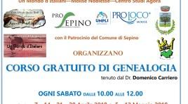 Sepino: in paese il corso gratuito di genealogia. Iniziativa organizzata alla locale Pro Loco.
