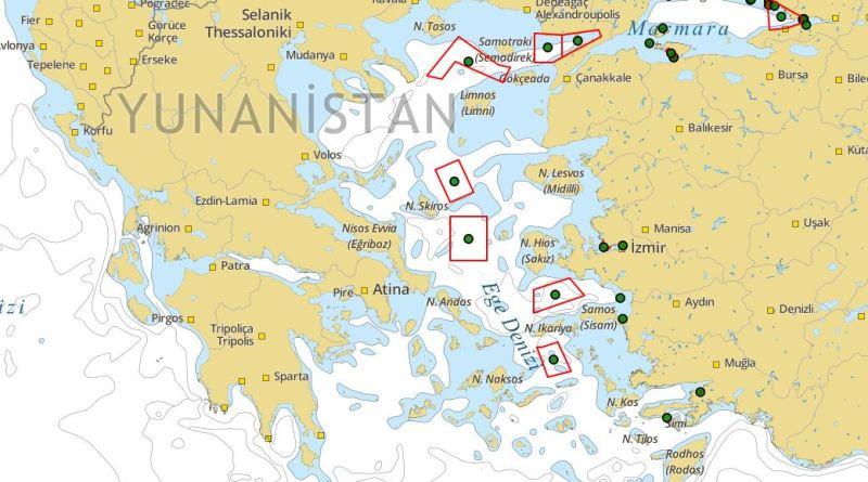 Δείτε το: Αυτός είναι ο τουρκικός χάρτης που δεσμεύει περιοχές στο Αιγαίο