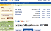 Huntington's Disease Partnering 2007-2013