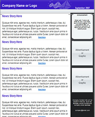 Free Newsletter Template HTML email template - Tried  Tested