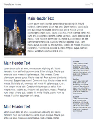 Free Business Newsletter Template HTML email template - Tried - company newsletter template free