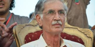 "The new Chief Minister of Khyber Pakthunkhwa province Friday urged Prime Minister-in-waiting Nawaz Sharif to form a decisive policy to stop US drone strikes in the country's tribal regions. ""We call upon the federal government and Nawaz Sharif to chalk out a clear policy against US drones and terrorism and for peace,"" Pervez Khan Khattak said after he was elected the Chief Minister. He said if his Pakistan Tehrik-e-Insaf (PTI) was elected at the center then the US would not dare carry out drone attacks. The PTI emerged the largest party in the Khyber Pakhtunkhwa Assembly and will for the first time the party has formed government in the province. During the campaign for the May 11 polls, the PTI chief Imran Khan had announced to shoot down US drones if it was voted to power at the centre. Meanwhile the PTI spokesperson, Dr Shirin Mazari lashed out at the US for carrying out the recent drown strike when Pakistan is in the process of new government formation. She told the media that PTI will move a resolution in the National Assembly against the drone attacks. She said that the resolution will strongly urge the US to stop the attacks and the government will also be advised to take action if the Americans refuse to halt the operation. Mazari said that her party's government in Khyber Pakhtunkhwa has the right to search the NATO supplies in case of suspicion of presence of arms in the trucks. She said the US has acted as enemy to carry drone strike on Wednesday just few days before the formation of a new government. On the other hand a senior leader of Pakistan Muslim League (PML-N) party Shahbaz Sharif said that the Prime Minister-elect Nawaz Sharif will take up the drone issue with the United States. He told reporters in Lahore that majority in Pakistan are opposed to the drone strikes and that the campaign should be stopped immediately. The US spy aircraft fired missiles in North Waziristan on Wednesday and killed at least six people including the senior Taliban leader Wali-ur-Rehman. The Taliban withdrew their peace talks offer to the new government as a protest over the drone strike. They claimed that the drone strikes are being carried out on the behest of the government."