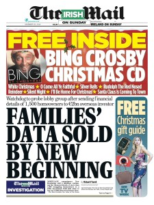 A protected disclosure by a whistleblower helped expose how mortgage help group, New Beginning,  sold the personal data of thousands of homeowners to a 2bn vulture fund. RESULT - Data Protection Commissioner launched an investigation and upheld complaints. New Beginning apologies.