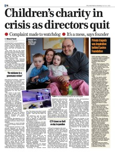 A whistleblower - frustrated by a lack of action when he complained to the Charity Regulator of financial concerns at a prominent charity - made a further disclosure to us.   RESULT: The Regulator commenced a preliminary review of the charity's governance and administration and a Garda investigation was launched into a specific concern.