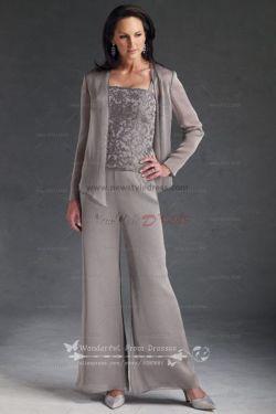 Modish Juniors Lace Silver Dress Pant Suits Cheap Three Piece Chiffon Mor Bride Pant Pant Silver Dressy Pant Suits At Dillards Dressy Pant Suits