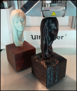 Printing a scanned model bust