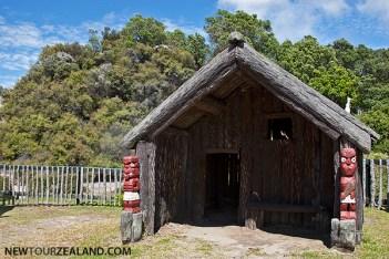 Traditional Maori house, Rotorua, New Zealand