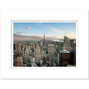 Empire State Building Blue Sunset Panorama Art Print ESBC002 MW1620