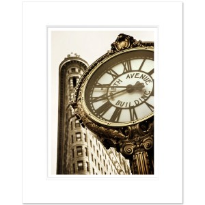 Fifth Ave Clock Flatiron NYC FIBS002 MW1620