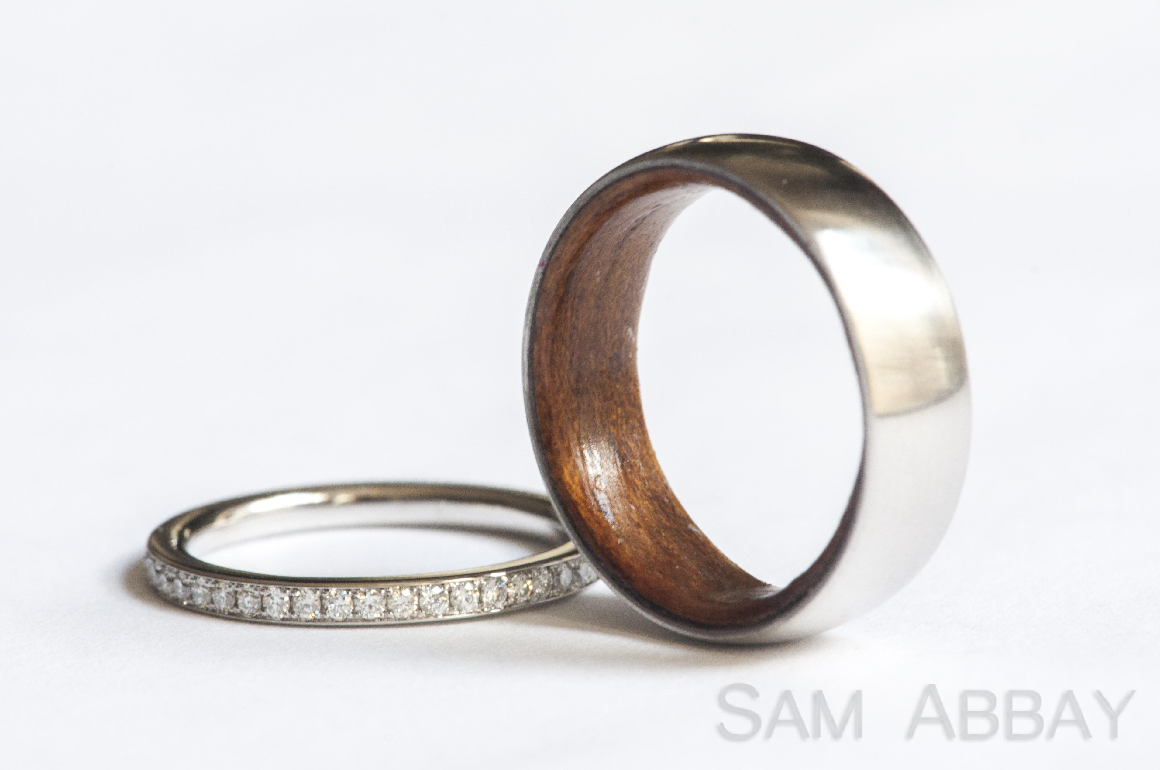 rings with liners rings wedding This unusual customer wanted a wood wedding ring Since wood rings are usually not durable enough to last as wedding rings we created a platinum ring with
