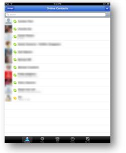 Skype for iPad screenshot