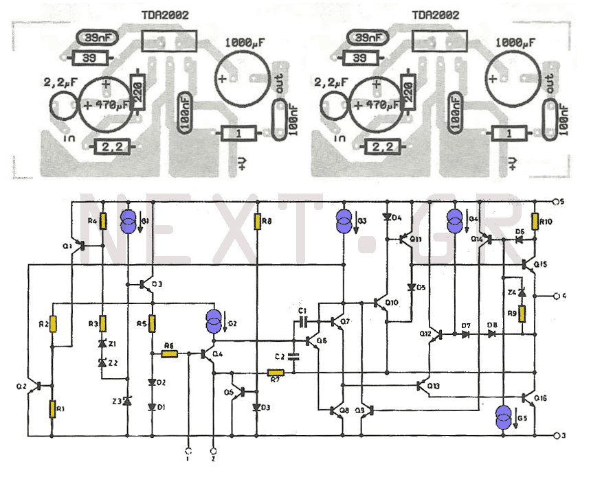 10w amplifier using tda2003