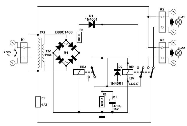 simple power saver circuit schematic diagram